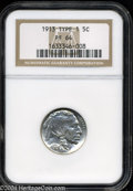 Proof Buffalo Nickels: , 1913 5C Type One PR64 NGC. Well struck, blemish-free, and ...