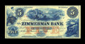 Canadian Currency: , Clifton, Province of Canada- Zimmerman Bank $5 185_ Charlton815-14-06R. ...
