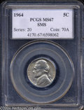 SMS Jefferson Nickels: , 1964 5C SMS MS67 PCGS. The satiny sheen and scattered die ...