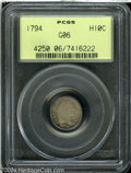 Early Half Dimes: , 1794 H10C Good 6 PCGS. V-4, LM-4, R.4. Steel-gray and ...