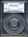 Early Half Dimes: , 1795 H10C VF20 PCGS. V-5, LM-8, R.3. Attributed by a die ...