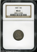 Bust Dimes: , 1835 10C MS61 NGC. JR-1, R.1. Boldly struck and ...