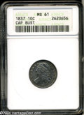 Bust Dimes: , 1837 10C MS61 ANACS. JR-4, R.1. As is diagnostic for the ...