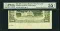 Inverted Back Error Fr. 2075-H $20 1985 Federal Reserve Note. PMG About Uncirculated 55 EPQ