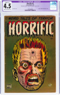 Horrific #3 (Comic Media, 1953) CGC Apparent VG+ 4.5 Slight (C-1) Cream to off-white pages