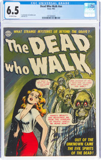 The Dead Who Walk #nn (Realistic Comics, 1952) CGC FN+ 6.5 Off-white pages