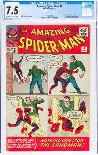 The Amazing Spider-Man #4 (Marvel, 1963) CGC VF- 7.5 Off-white to white pages