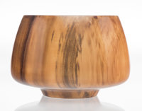 Philip Moulthrop (American, b. 1947) Bowl Figured tulipwood 8-3/4 x 12-1/2 x 12-1/2 inches (22.2