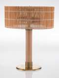 Lighting, Paavo Tynell (Finnish, 1890-1973). Table Lamp, circa 1950, Taito Oy. Wicker cane, wood, brass. 18 x 14-1/8 inches (45.7 ...