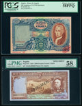 World Currency, Angola Banco De Angola 100 Angolares; 1000 Escudos 2.2.1946; 15.8.1956 Pick 81s; 91s Two Specimen PCGS Choice About New 58... (Total: 2 notes)