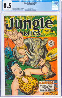 Jungle Comics #109 (Fiction House, 1949) CGC VF+ 8.5 White pages