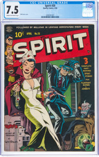 The Spirit #20 (Quality, 1950) CGC VF- 7.5 Cream to off-white pages