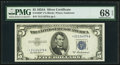 Small Size:Silver Certificates, Fr. 1656* $5 1953A Silver Certificate. PMG Superb Gem Unc 68 EPQ.. ...