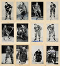 Autographs:Sports Cards, Signed 1944 - 1963 Bee Hive Hockey Photos (Group Two) Partial Set (227)....