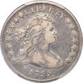 Early Dollars, 1795 $1 Draped Bust, Off-Center, B-14, BB-51, R.2 -- Cleaned -- PCGS Genuine. VF Details....