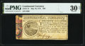 Continental Currency May 10, 1775 $20 PMG Very Fine 30 Net