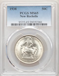 1938 50C New Rochelle MS65 PCGS. PCGS Population: (1693/1319). NGC Census: (1063/673). MS65. Mintage 15,266. From The...