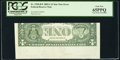 Inverted Back Error Fr. 1930-B* $1 2003A Federal Reserve Note. PCGS Gem New 65PPQ