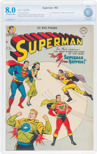 Superman #65 (DC, 1950) CBCS VF 8.0 Off-white to white pages