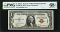Small Size:World War II Emergency Notes, Fr. 2300 $1 1935A Hawaii Silver Certificate. PMG Superb Gem Unc 68 EPQ.. ...