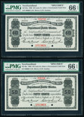 World Currency, Canada St. John's, NF- Newfoundland Government Cash Note 40¢; 50¢; 80¢; $1; $5 1901-1902 Ch.# NF-2bs; 3bs; 4as; 5as; 6as Com... (Total: 5 notes)
