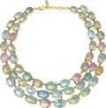 Estate Jewelry:Necklaces, Beryl, Gold Necklace . ...