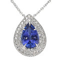 Estate Jewelry:Necklaces, Tanzanite, Diamond, Platinum Pendant-Necklace, Tiffany & Co. . ...