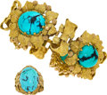 Estate Jewelry:Suites, Turquoise, Gold Jewelry, Buccellati. ... (Total: 2 Items)