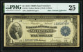 Fr. 744 $1 1918 Federal Reserve Bank Note PMG Very Fine 25