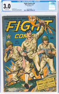 Fight Comics #29 (Fiction House, 1943) CGC GD/VG 3.0 Off-white pages