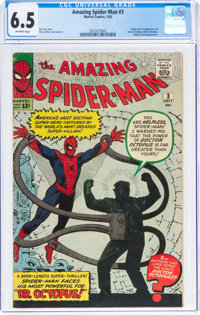 The Amazing Spider-Man #3 (Marvel, 1963) CGC FN+ 6.5 Off-white pages