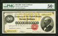 Large Size:Gold Certificates, Fr. 1178 $20 1882 Gold Certificate PMG About Uncirculated 50 EPQ.. ...