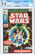 Bronze Age (1970-1979):Superhero, Star Wars #1 (Marvel, 1977) CGC VF- 7.5 Off-white to white pages....