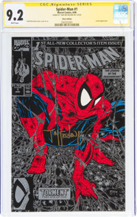 Spider-Man #1 Silver Edition - Signature Series: Todd McFarlane (Marvel, 1990) CGC NM- 9.2 White pages