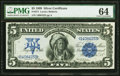Large Size:Silver Certificates, Fr. 271 $5 1899 Silver Certificate PMG Choice Uncirculated 64.. ...