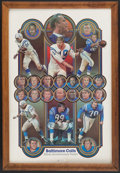 Football Collectibles:Others, 1978 Baltimore Colts Silver Anniversary Team Poster. ...