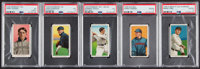 1909-11 T206 Multi-Brand PSA-Graded Collection (5). ... (Total: 5 items)