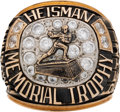 Football Collectibles:Others, 1990 Ty Detmer Heisman Memorial Trophy Salesman's Sample Ring. ...