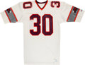 Football Collectibles:Uniforms, 1985 Mike Rozier Game Worn & Signed Jacksonville Bulls USFL Jersey (5 Team Repairs!). ...