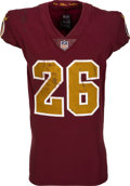 Football Collectibles:Uniforms, 2018 Adrian Peterson Game Worn & Unwashed Washington Redskins Throwback Jersey, Photo Matched To 11/18 vs Texans in 2 Touchdow...