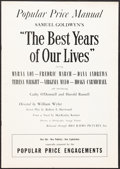 "Movie Posters:Academy Award Winners, The Best Years of Our Lives & Other Lot (RKO, 1946). Fine/Very Fine. Cut Pressbook (16 Pages, 12"" X 17"") Popular Price Style... (Total: 2 Items)"