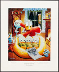 Movie Posters:Animation, Blizzard Tonight by Carl Barks (Another Rainbow, 1993). Very Fine/Near Mint. Signed and Numbered Limited Edition Lithograph ...