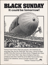 """Black Sunday & Other Lot (Paramount, 1977). Rolled, Overall: Very Fine-. Posters (2) (30"""" X 40""""). Horror..."""