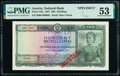 World Currency, Austria Austrian National Bank 100 Schilling 2.1.1947 Pick 124s Specimen PMG About Uncirculated 53.. ...