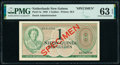 Netherlands New Guinea Nieuw-Guinea 1 Gulden 1950 Pick 4s Specimen PMG Choice Uncirculated 63 EPQ