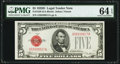 Small Size:Legal Tender Notes, Fr. 1529 $5 1928D Legal Tender Note. PMG Choice Uncirculated 64 EPQ.. ...