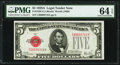 Small Size:Legal Tender Notes, Fr. 1526 $5 1928A Legal Tender Note. PMG Choice Uncirculated 64 EPQ.. ...