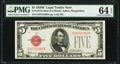 Small Size:Legal Tender Notes, Fr. 1527 $5 1928B Mule Legal Tender Note. PMG Choice Uncirculated 64 EPQ.. ...