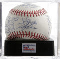 Autographs:Baseballs, 1988 U.S. Olympic Team Signed Baseball PSA Mint 9. Superb team ballsigned by 20 members of the 1988 U.S. Olympic squad. Hi...