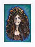 "Music Memorabilia:Posters, Grace Slick ""Janis Wood Nymph"" Signed and Numbered Art Print,237/300 (Undated) Jefferson Airplane/Starship singer Grace Sli..."